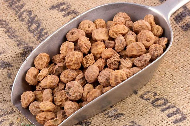 Tiger nuts. Speaking of nuts, the tiger nut makes it onto the super snack list due to its high fibre count, healthy heart fats and protein power. And technically it's not a nut but a tuber – hence the high fibre content. Crushing the 3pm hunger call via the tiger also gives your body a healthful makeover.