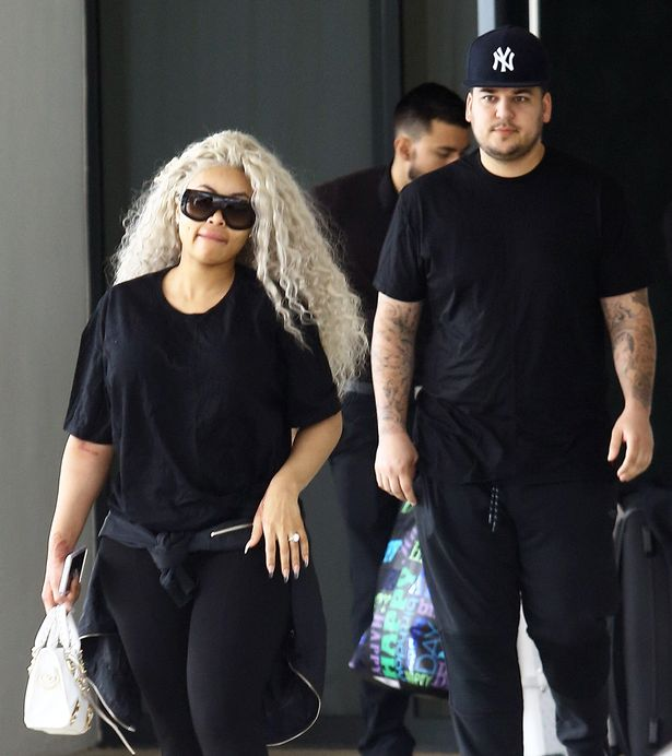 Pregnant model Blac Chyna and her fiance, reality television star Rob Kardashian, are spotted leaving their hotel in Miami, Florida
