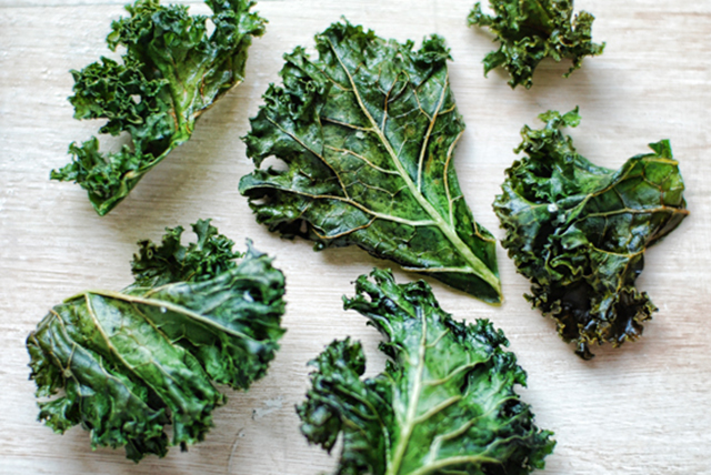 Kale chips. Sometimes the savoury crunch of a chip is all your taste buds can think about – enter kale chips. A full crunch factor plus a dose of good-for-you greens. Go organic (we like Loving Earth's Raw Organic Kale Chips) for max snacking and health benefits.