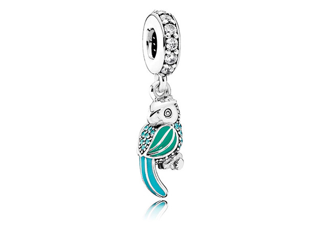Tropical Parrot Dangle charm