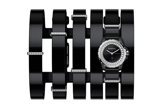 Chanel J12-XS Large Black Cuff