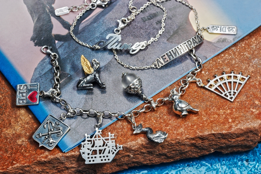 A collection of jewelry in honor of St. Petersburg