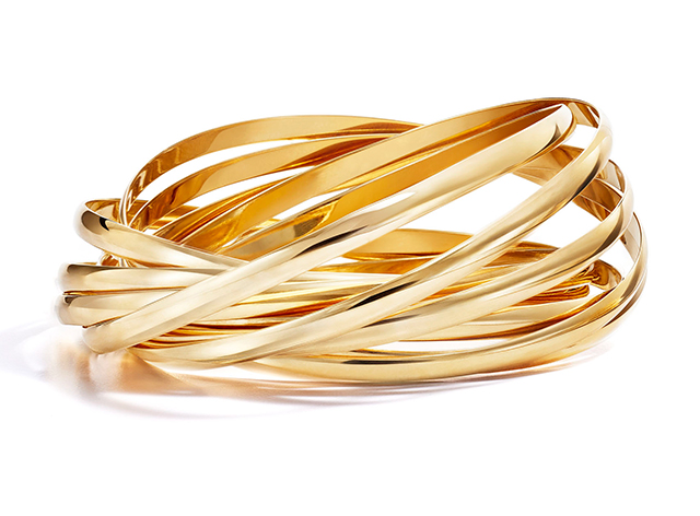 24c6a9c08 Paloma's Melody Paloma's original Calife nine-band bracelet. Crafted in  yellow and rose gold ...