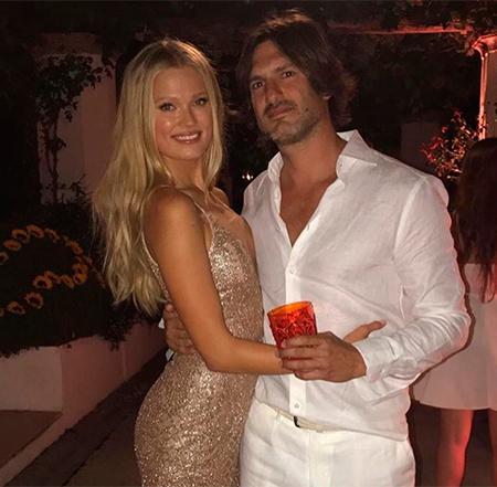 Вита Сидоркина и Валерио Морабито на вечеринке, приуроченной к свадьбе