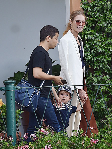 Natalya Vodianova with her son