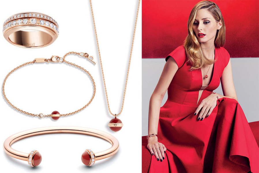 Possession: a new collection of Piaget jewelry with colored gems